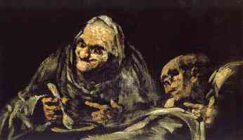 black paintings francisco goya two old men eating soup