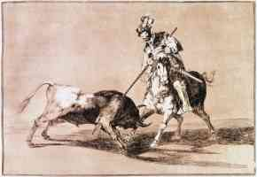 bullfighting francisco goya el cid lanced another bull