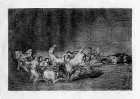 bullfighting francisco goya horse being gored by bull