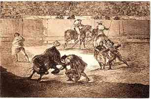 bullfighting francisco goya pepe hillo in action