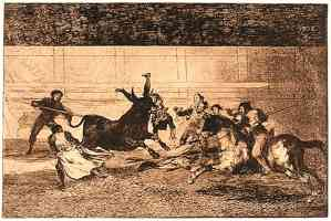 bullfighting francisco goya the death of pepe hillo