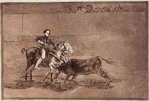 bullfighting francisco goya the famous pajuelera in zaragoza