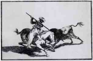 bullfighting francisco goya the morisco gazul is the first to fight bulls with a lance