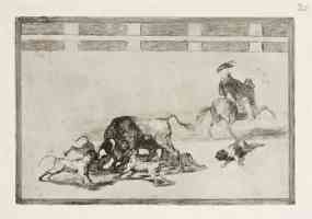 bullfighting francisco goya throw the bull dogs