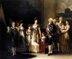 paintings francisco goya charles iv and his family