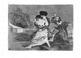 the disasters of war francisco goya an old woman uses a knife to protect young girl from lustful soldier