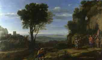 claude lorrain french baroque claude landscape with david at the cave of adullam