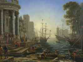 claude lorrain french baroque claude seaport with the embarkation of saint ursula
