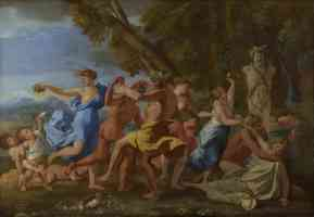 nicolas poussin french baroque a bacchanalian revel before a term
