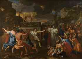 nicolas poussin french baroque the adoration of the golden calf