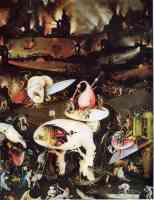 hieronymus bosch gothic garden of earthly delights hell