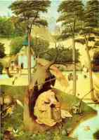 hieronymus bosch gothic the temptation of saint anthony under tree