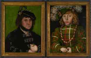 lucas cranach the elder gothic diptych two electors of saxony