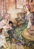 arthur rackham illustration goblin market laura would call the little ones