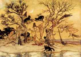 arthur rackham illustration the witches sabbath