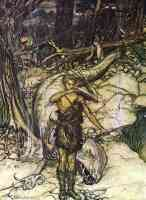 arthur rackham illustration wagners ring of the nibelung 45