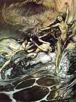 arthur rackham illustration wagners ring of the nibelung 64
