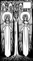 aubrey beardsley illustration angels