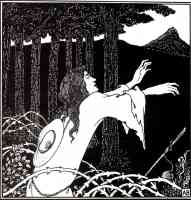 aubrey beardsley illustration the return of tannhauser to the venusberg