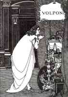 aubrey beardsley illustration volpone adoring his treasures