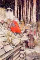 fairy illustration aase on mill house roof