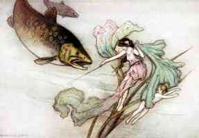 fairy illustration great trout