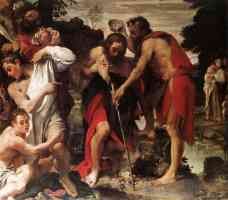 annibale carracci italian baroque the baptism of christ