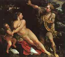 annibale carracci italian baroque venus and adonis