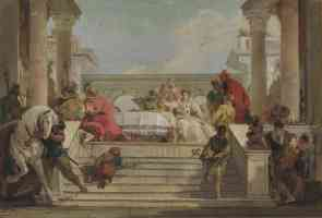 giovanni battista tiepolo italian baroque the banquet of cleopatra