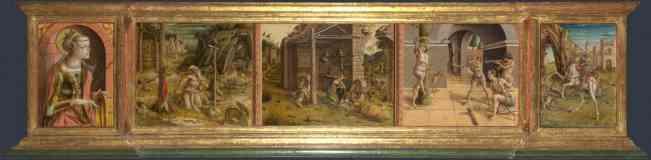 carlo crivelli italian renaissance predella of la madonna della rondine