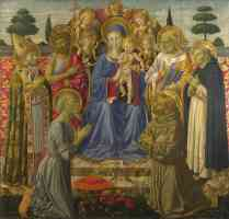 classical masters italian renaissance benozzo gozzoli the virgin and child enthroned among angels and saints