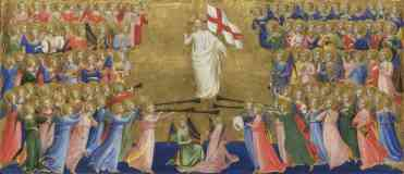 fra angelico italian renaissance christ glorified in the court of heaven