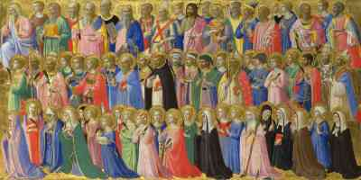 fra angelico italian renaissance the forerunners of christ with saints and martyrs