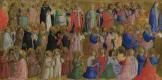 fra angelico italian renaissance the virgin mary with the apostles and other saints