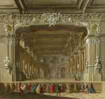 northern italian renaissance the interior of a theatre