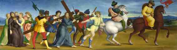 raphael italian renaissance the procession to calvary