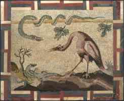 roman italian renaissance crane python and lizard