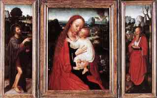 adriaen isenbrandt netherlandish triptych of virgin and child