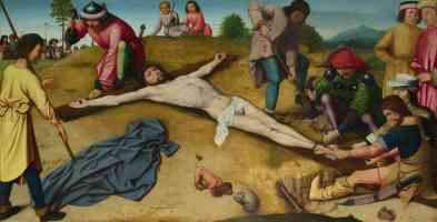 gerard david netherlandish christ nailed to the cross