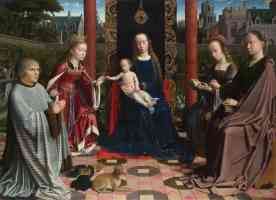 gerard david netherlandish the virgin and child with saints and donor