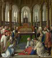 netherlandish masters netherlandish rogier van der weyden and workshop the exhumation of saint hubert