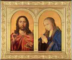 quentin matsys netherlandish diptych christ and the virgin