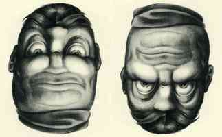 joge e two way face optical illusion rex whistler high and low