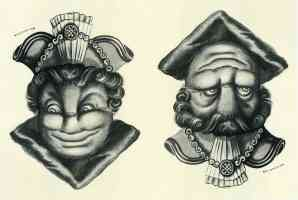 joge e two way face optical illusion rex whistler mayor and judge