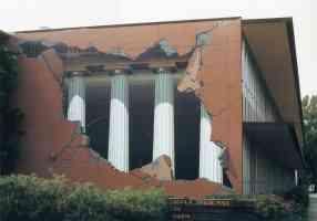 john pugh optical illusion greek pillars breaking out of librairy