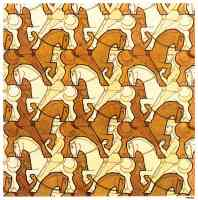m c escher optical illusion cavaliers