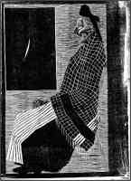 m c escher optical illusion seated old woman