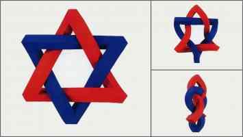 mathieu hamaekers optical illusion star of david