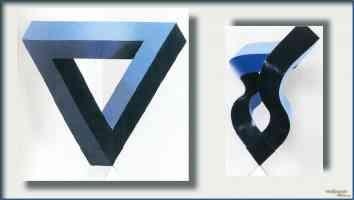 mathieu hamaekers optical illusion triangle