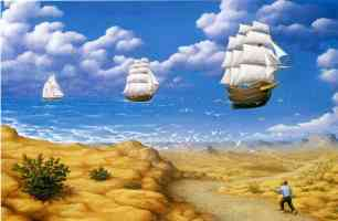 rob gonsalves optical illusion sailing the seas and sky